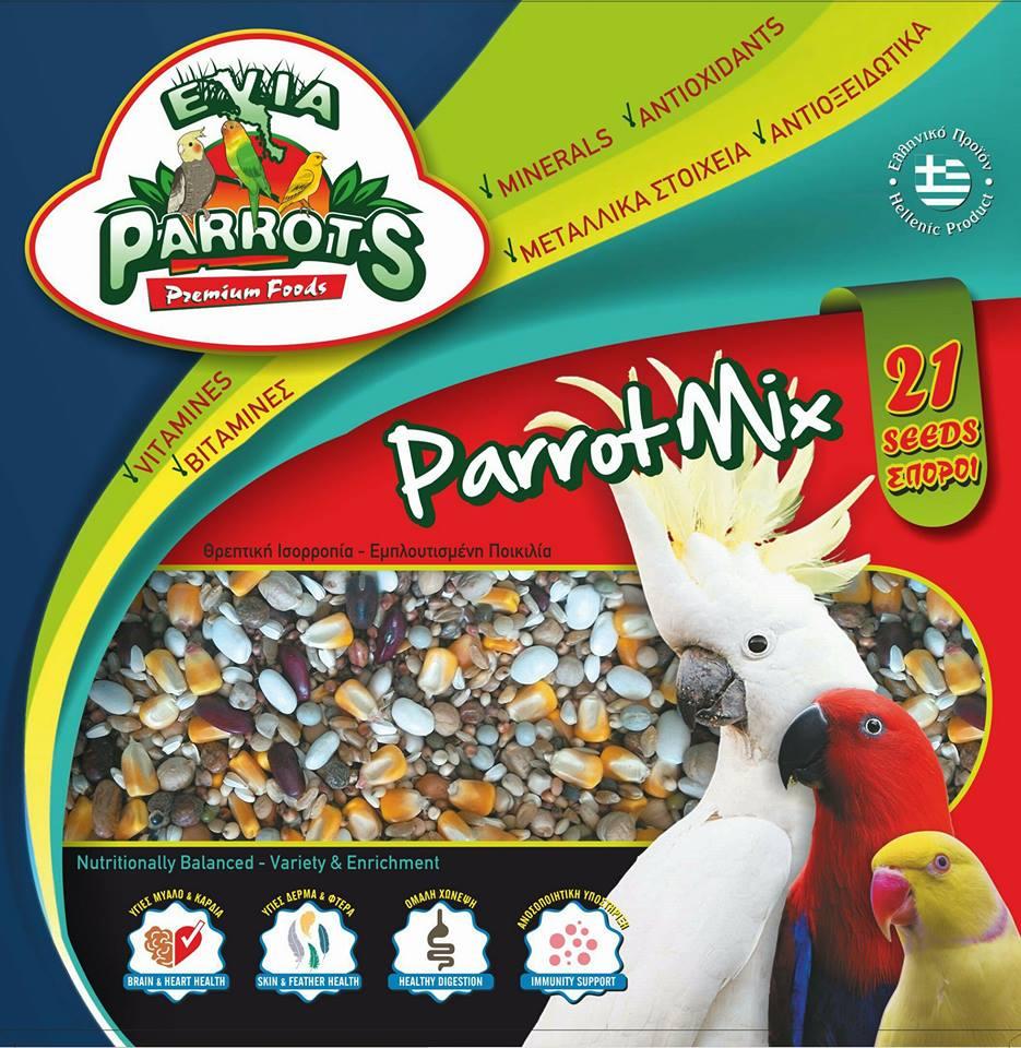 Evia Parrots Parrot Mix Πλήρες μείγμα για παπαγάλους