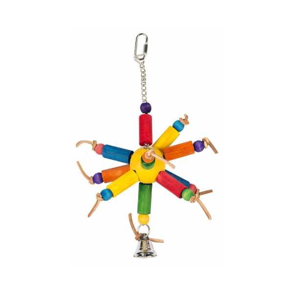 Duvo Παιχνίδι Ήλιος ξύλο & κουδουνάκι για όλα τα πτηνά