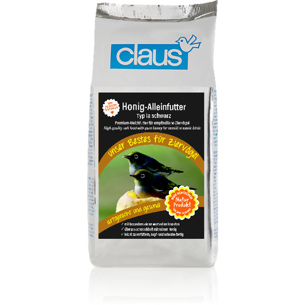 Claus Honig-Alleinfutter Μαύρη Πλήρης Τροφή για Εντομοφάγα