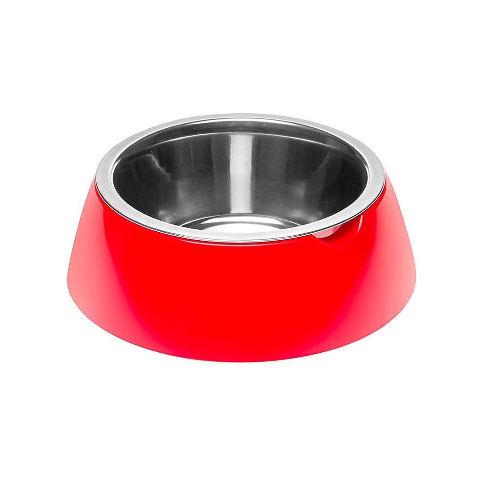 Ferplast Jolie Small Κόκκινο Μπολ Ανοξείδωτο με Πλαστική Θήκη