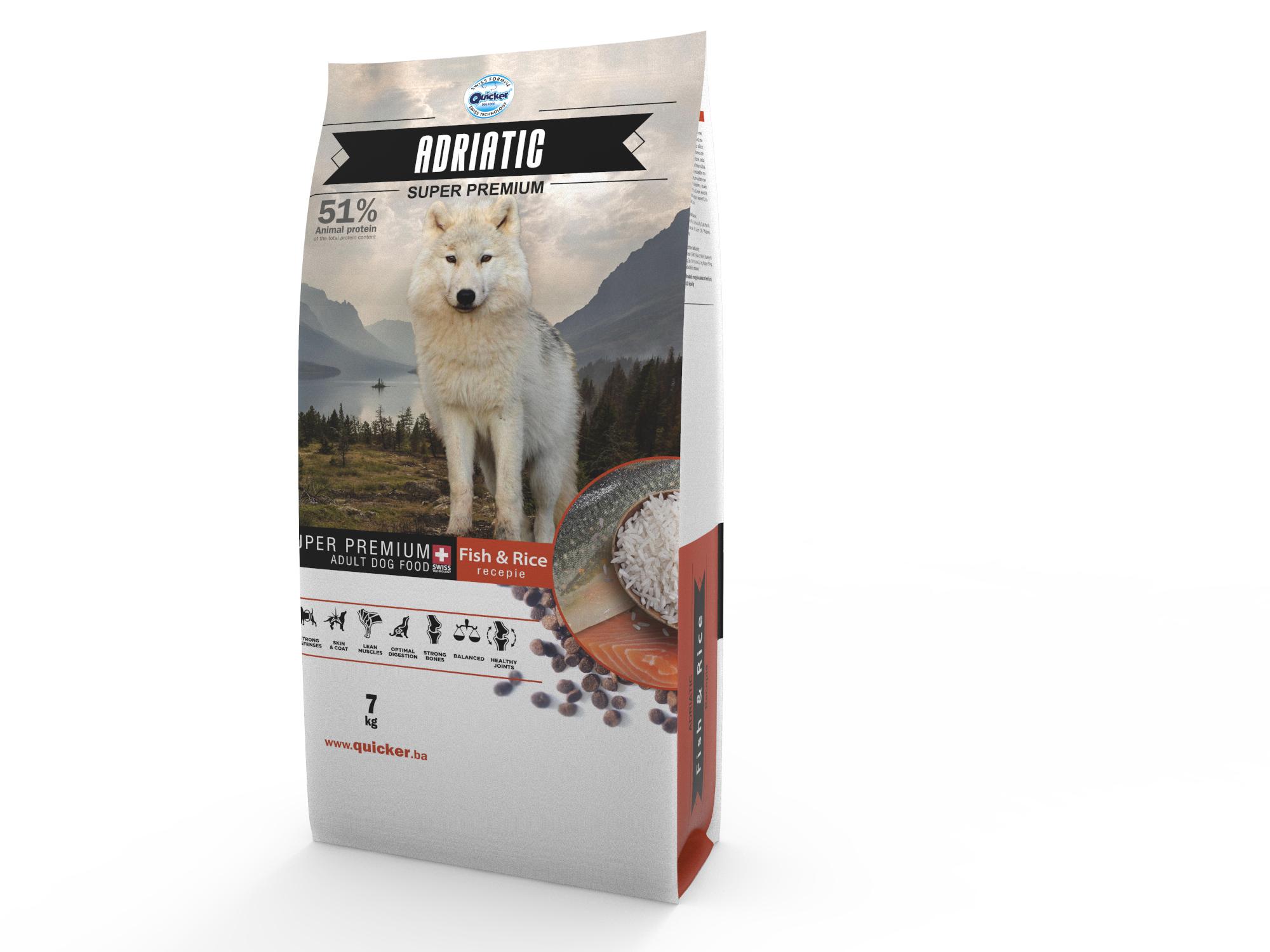Quicker Adriatic Adult Super Premium Ξηρή τροφή ενέργειας για σκύλους