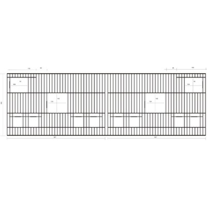 Πρόσοψη 114cm x 35cm με κάθετες πόρτες