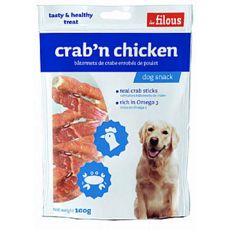 Les Filous Crab'n chicken λιχουδιά σκύλου με αληθινό καβούρι και κοτόπουλο
