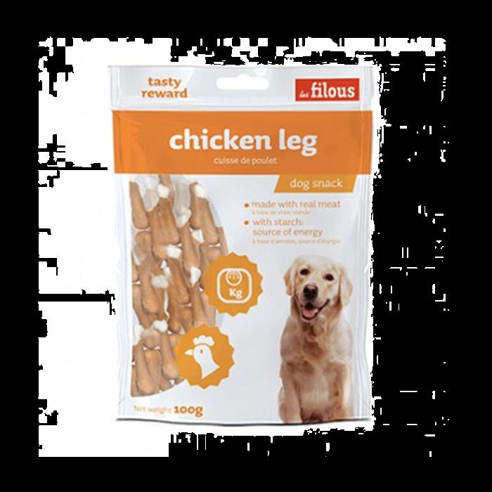 Les filous chicken legs Les filous Λιχουδιά Σκύλου με κοτόπουλο & ασβέστιο