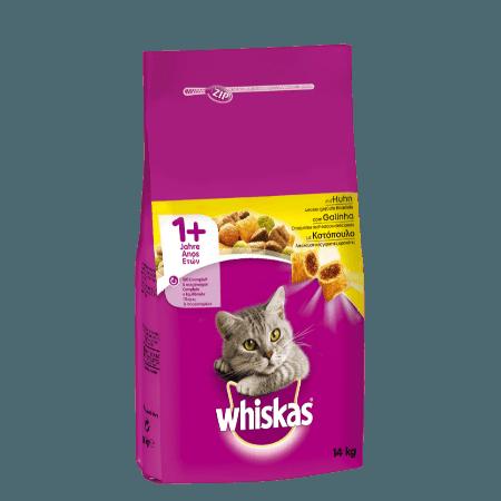 Whiskas Πλήρης και Ισορροπημένη Ξηρή Τροφή για Γάτα με Κοτόπουλο