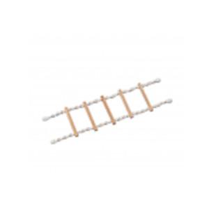 To NOBBY Βαμβακερό Rope φούντα με μεταλλικό Clip είναι ένα παιχνίδι σκάλας με σκοινί και 4 σκαλιά.