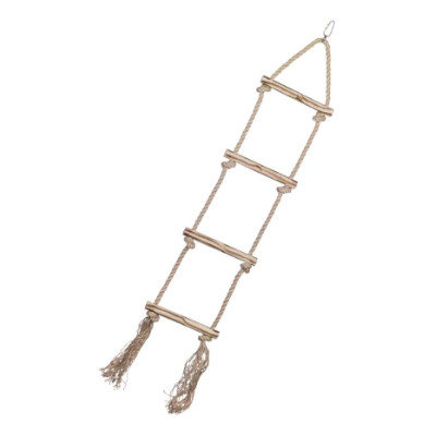 Nobby Παιχνίδι πτηνών Ξύλινη σκάλα με σκοινί