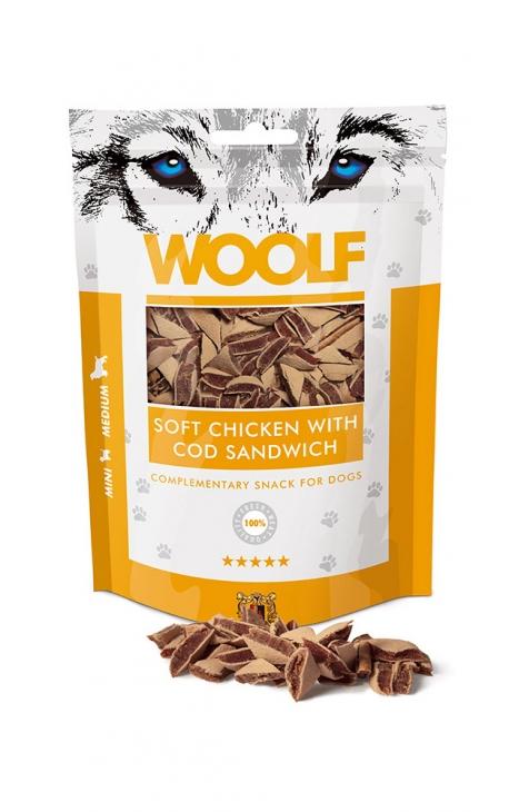Woolf σνακ για σκύλους με κοτόπουλο και μπακαλιάρο