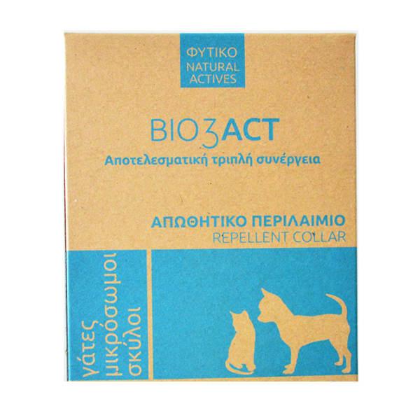 Bio3Act Φυτικό Αντιπαρασιτικό κολάρο για γάτα & σκύλο 35cm