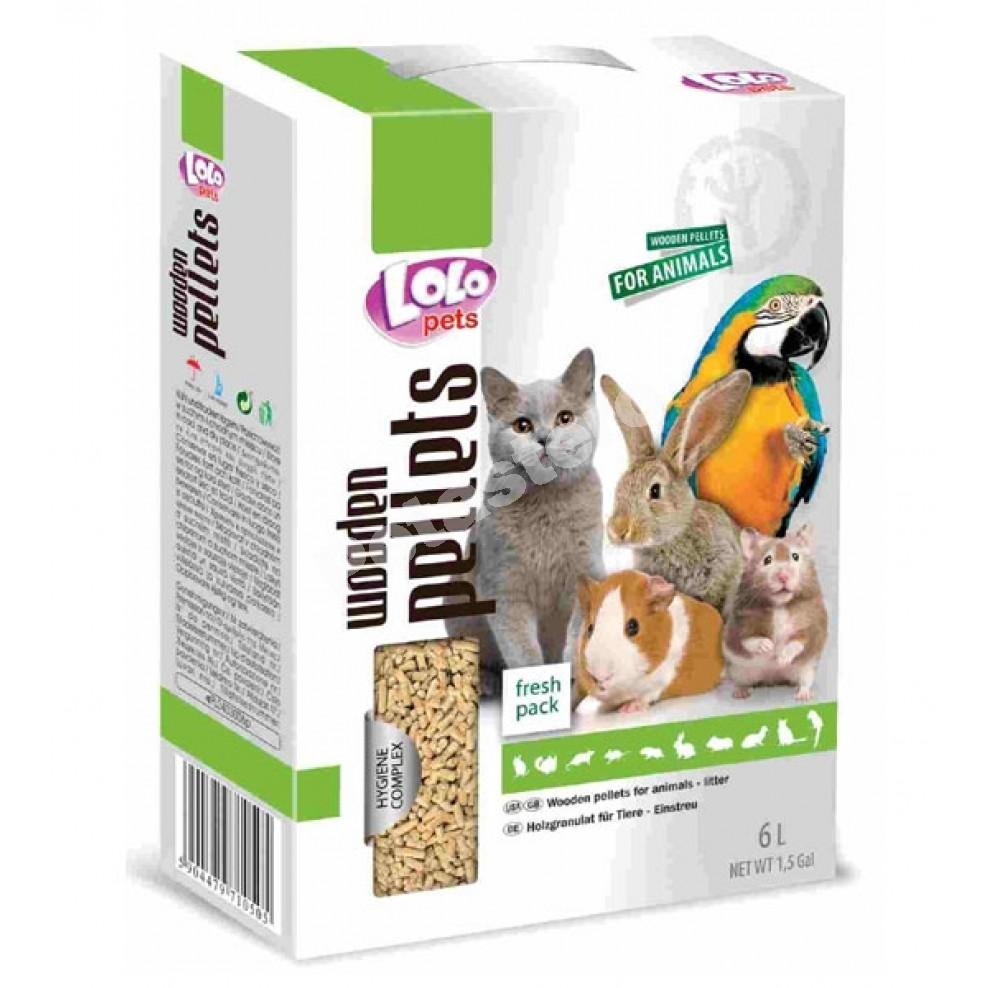 Lolo pets Wooden Pellets υπόστρωμα για μικρά ζώα