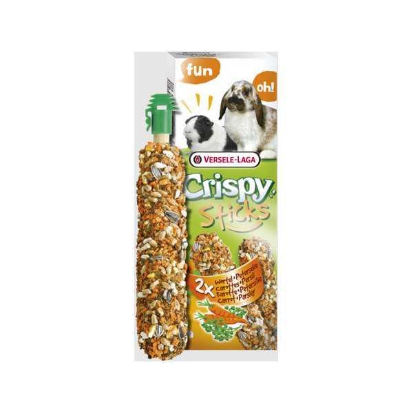 Versele-Laga Crispy Sticks με Καρότο & Μαϊντανό για Κουνέλια & Ινδικά Χοιρίδια 2x55gr