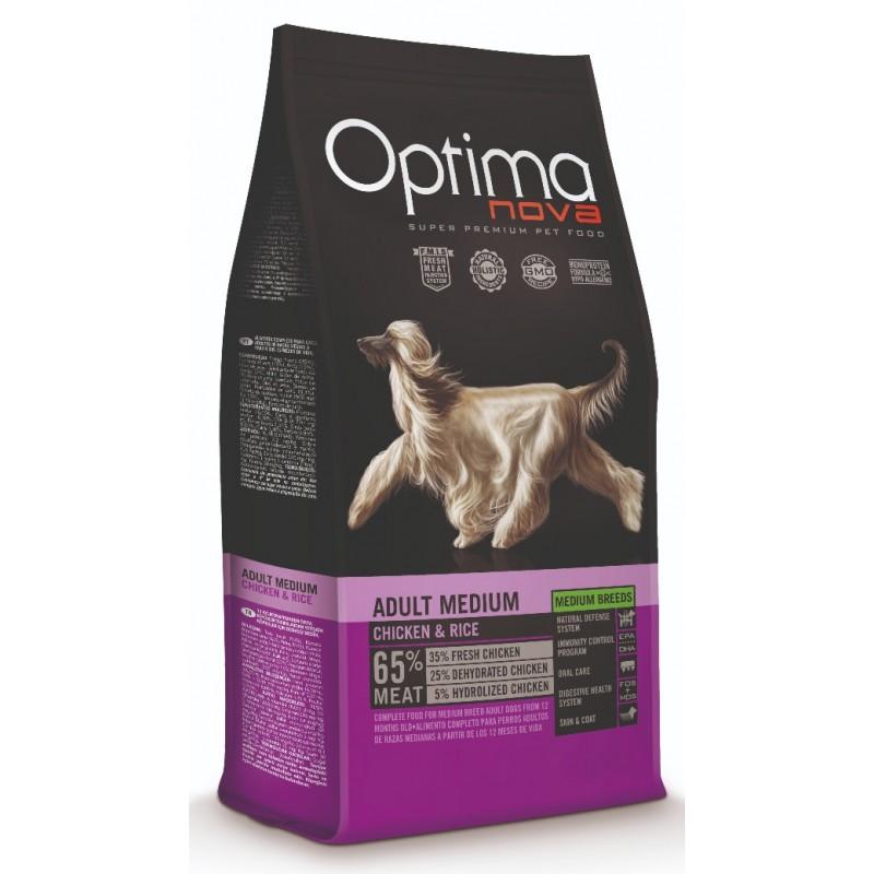Optimanova Adult Medium Chicken & Rice animal-foods ksiri trofi gia skilous