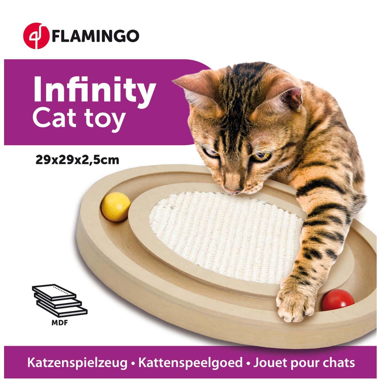 560149 560149 wooden scratcher infinity flamingo animal foods.gr 2