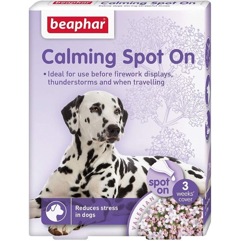 αμπούλες κατά του στρες για σκύλο beaphat spot on calming animal-foods.gr