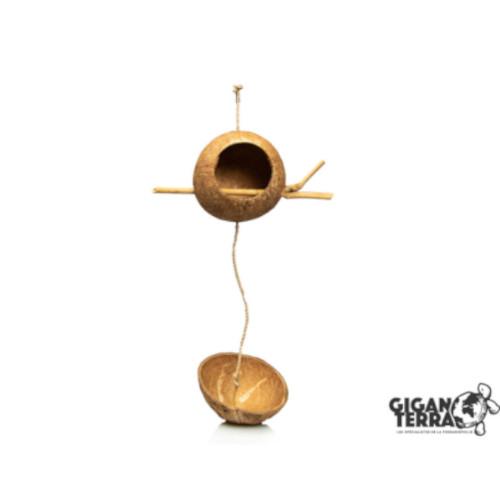 giganterra Φυσική φωλιά από καρύδα για πτηνά στο animal-foods.gr pet shop Θεσσαλονίκη και Online Pet Shop